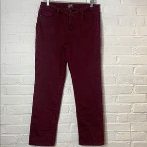 Dress barn 10P maroon Jeggings/Jeans